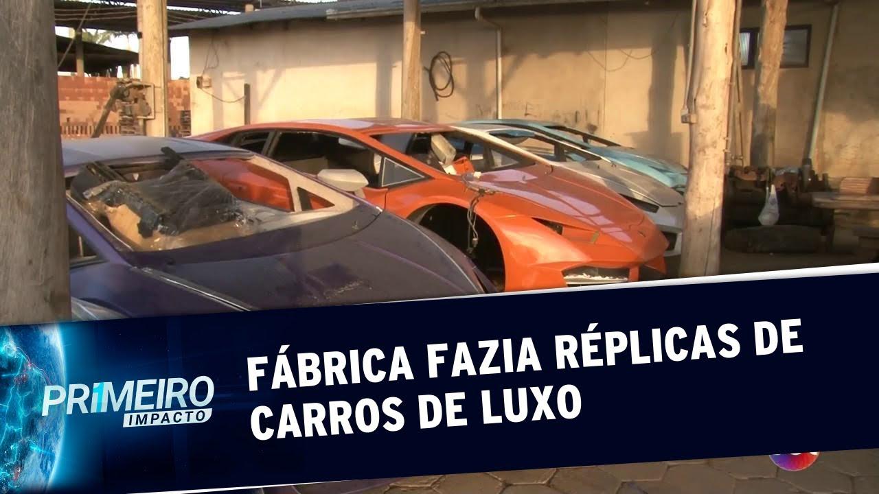 a6a3c108c Polícia fecha fábrica clandestina de Ferrari e Lamborghini em SC | Primeiro  Impacto (18/07/19)