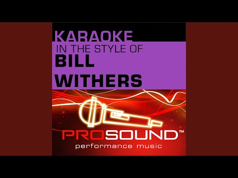 Lean On Me Karaoke Instrumental Track In the style of Bill Withers