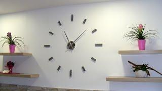 Fashion 3D moderne sans cadre Horloge murale montres Autocollant heures À faire soi-même Décoration