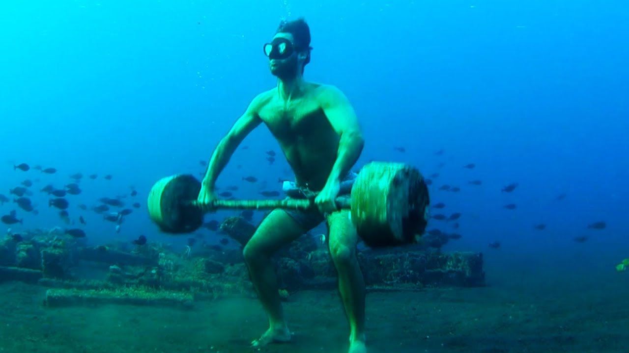 Man Does Weights Underwater | Ultimate Water Sports Compilation