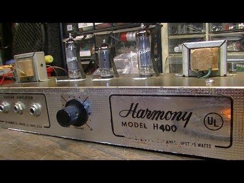 60s Harmony H400 Student Amp Gets Upgrade - I BROKE A NAIL!