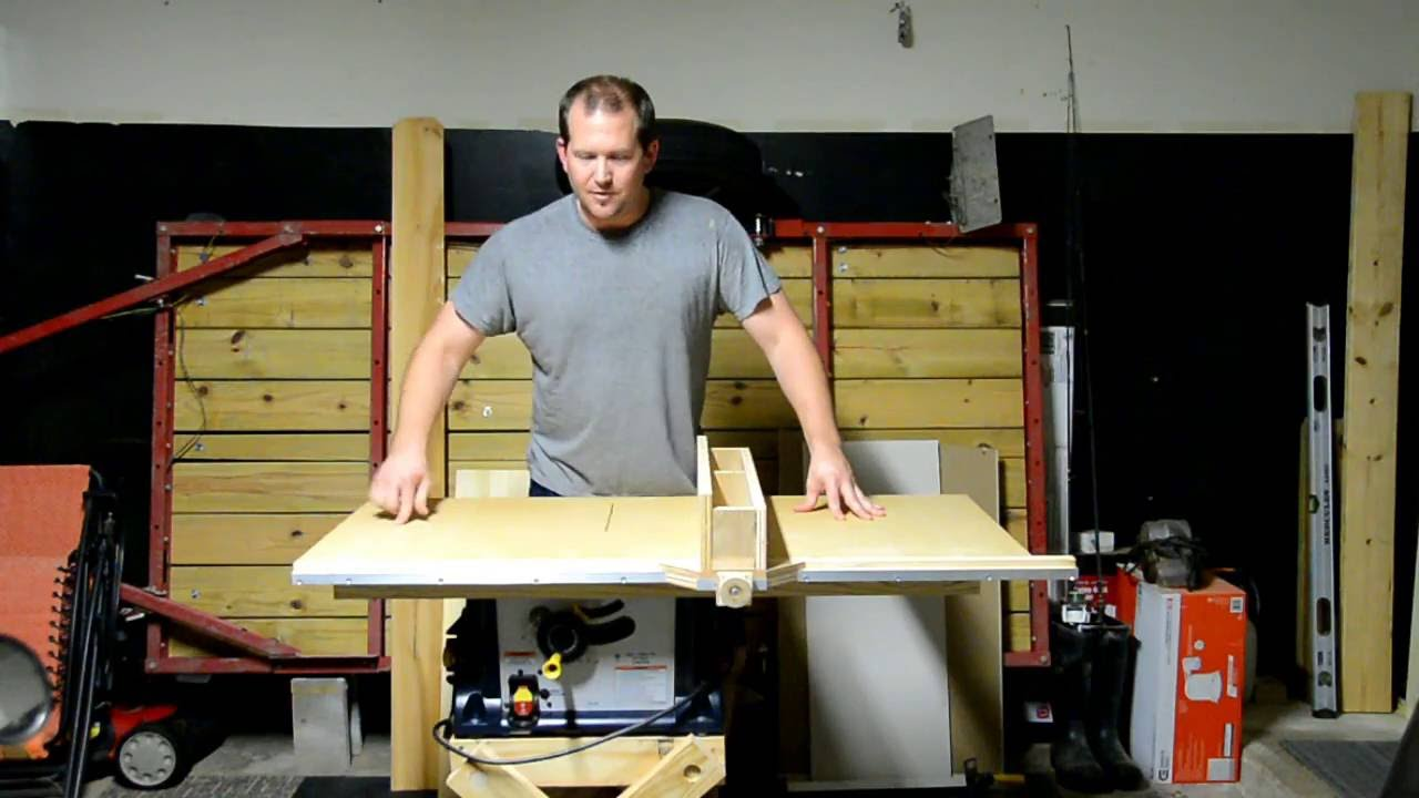 Improving A Cheap Table Saw Top And Rip Fence Youtube