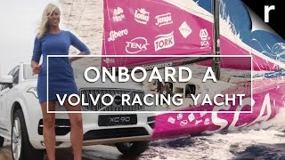 On-board a Volvo racing yacht with an all-female team!