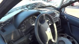 Crashed skoda octavia dead driver