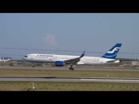 Finnair Boeing 757-2Q8 OH-LBS soft landing at Helsinki