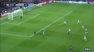 Jeremy Mathieu AutoGol Barcelona 2-0 Sporting Lizbon UCL 05.12.2017