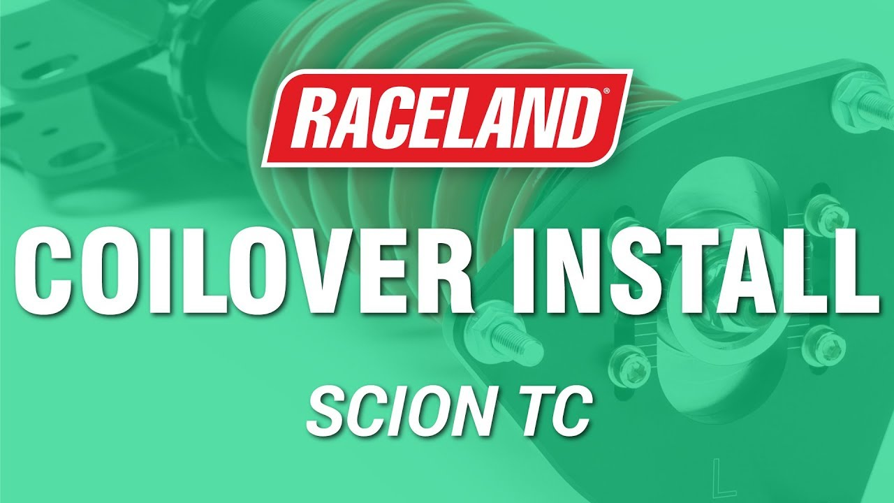 how to install raceland scion tc coilovers youtube. Black Bedroom Furniture Sets. Home Design Ideas