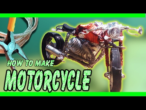 How to make a motorcycle - cafe racer style -  only with zinc wire