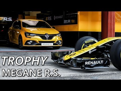 Renault Megane RS Trophy (2019) Track Action With R.S. 18 F1 Car