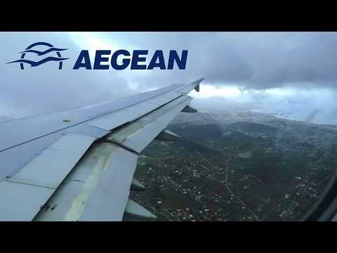 AEGEAN AIRLINES Airbus A320-200 CROSSWIND ONBOARD Landing at Athens Airport (ATH)!