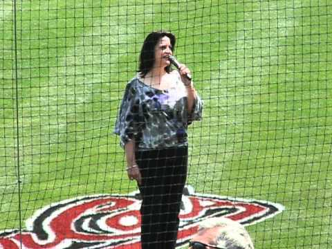 Michelle Martin at the River Cats game