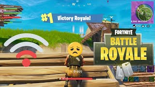 GETTING THAT WIN WHILE LAGGING (Fortnite Battle Royale Funny Moments)