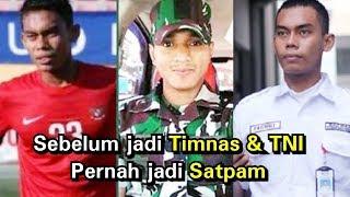 Banyak yg tak tau.. 8 pemain Timnas ini ternyata anggota TNI.. No 7 pernah jadi satpam