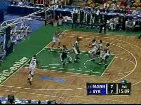 Carmelo Anthony Tomahawk Dunk vs. Manhattan 2003 NCAA Tournament