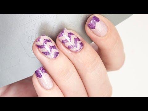 Как красить ногти трафаретами для французского маникюра