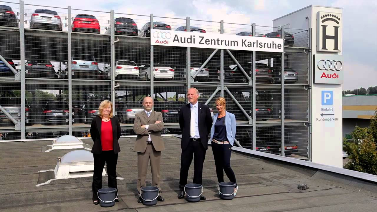 gh ice bucket challenge audi zentrum karlsruhe youtube. Black Bedroom Furniture Sets. Home Design Ideas