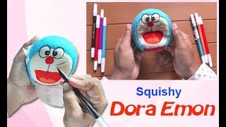 Cara Membuat Squishy Doraemon - How To Make Doraemon Squishy