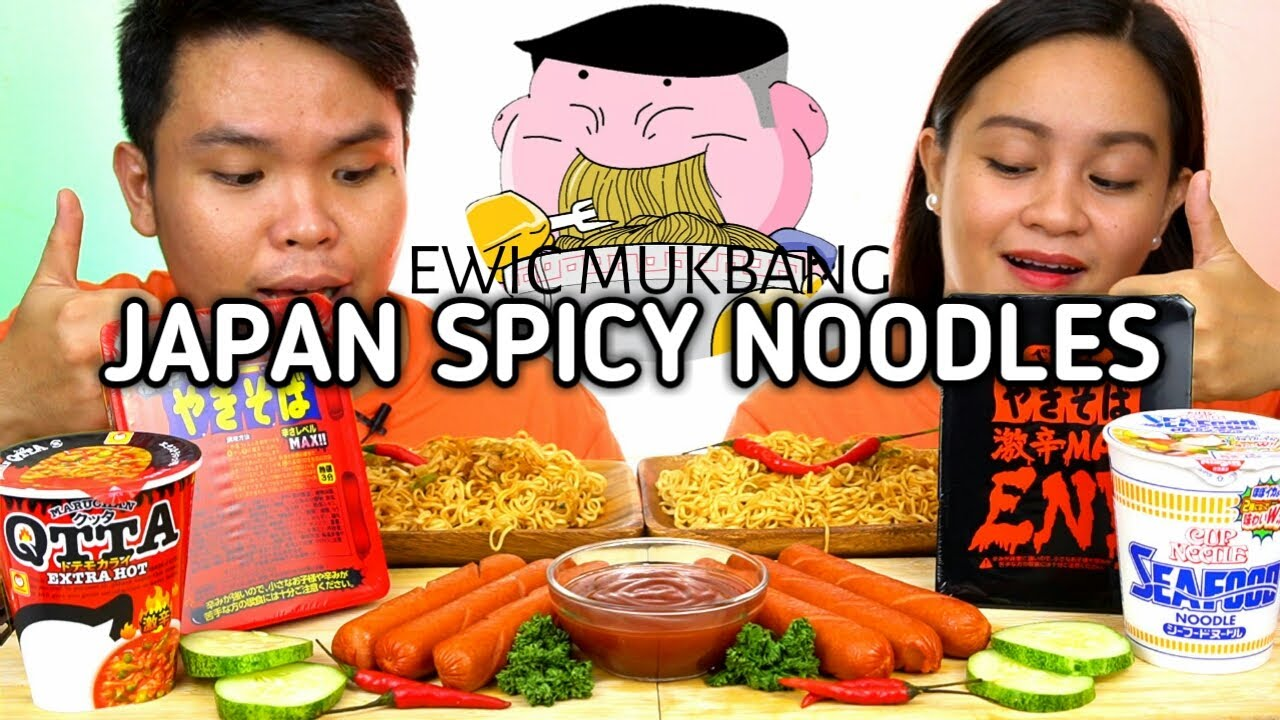SPICY NOODLES of JAPAN Mukbang By Rshoppe-Japan Goodies /Filipino Mukbanger /Spicy Noodles Challenge