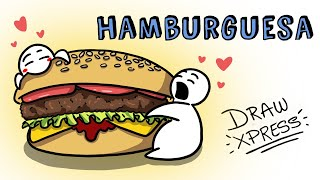 LA HAMBURGUESA 🍔 | Draw My Life