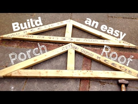 DIY Porch Roof. Building a simple pitched roof step by step.