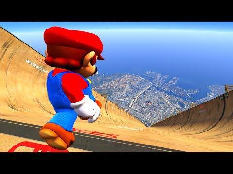 GTA 5 Epic Ragdolls/Super Mario Compilation (GTA 5, Euphoria Physics, Fails, Funny Moments)