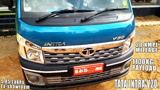 Tata Intra V20 Truck Review, Ex-showroom Price 5.85L, Mileage 20 Kmpl, Payload Capacity 1100 Kg