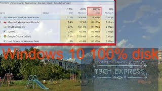 Fix Windows 10, 100 % disk usage in Task Manager