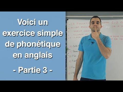 Voici un exercice simple de phonétique en anglais - partie ...