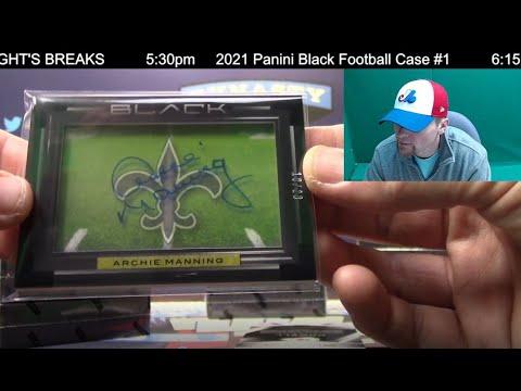 2021 Panini Black Football Card 12 Box Case Break #1   Sports Cards