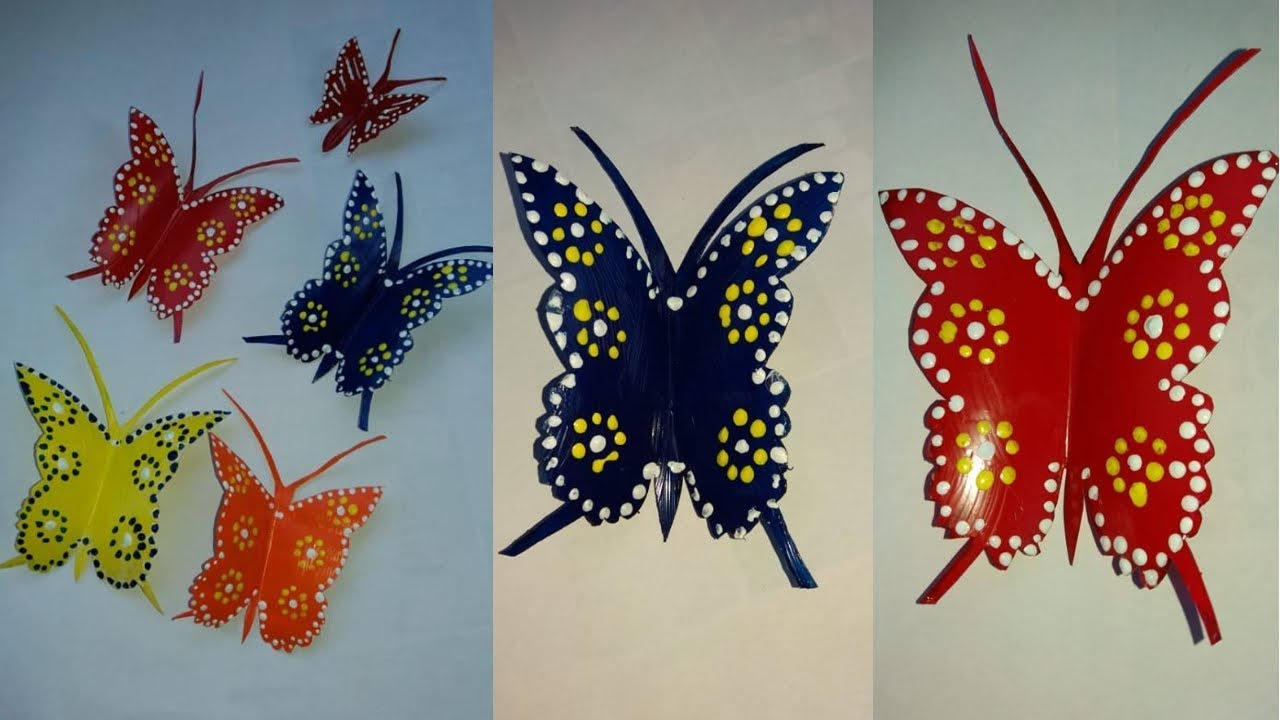 Butterflies from a plastic bottle with their own hands. Butterfly Patterns 23