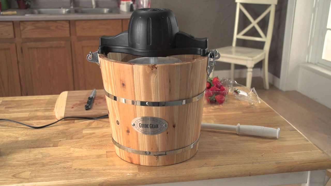 Guide Gear Old Fashioned Ice Cream Maker Youtube