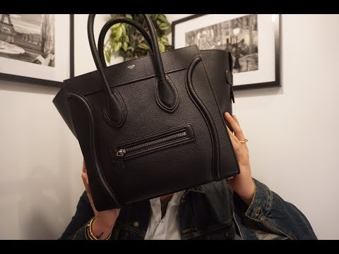 Celine Mini Luggage Black Unboxing |FIRST IMPRESSION|