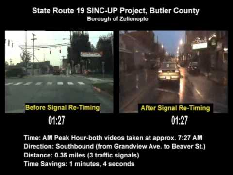 State Route 19 SINC-UP Project (Zelienople-Butler County) AM Peak Southbound