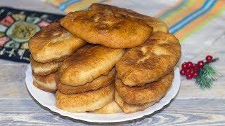Пирожки дрожжевые на воде на сковороде