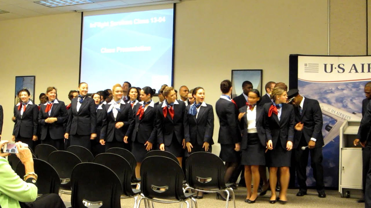 US Airways Flight Attendant Training Class 13-04 - YouTube