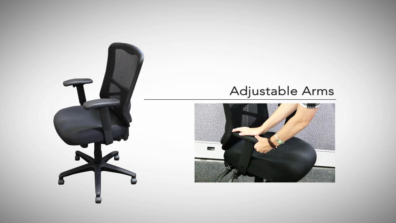 alera elusion series chair youtube