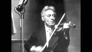 Fritz Kreisler plays his arrangement of Romberg