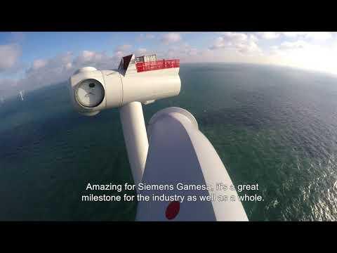 Siemens Gamesa installs its offshore Direct Drive wind turbine number 1,000