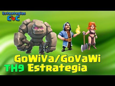TH8.5 y TH9: Cómo corregir un ataque desorganizado GoVaWi / GoWiVa (Golem, Valquirias y Magos)