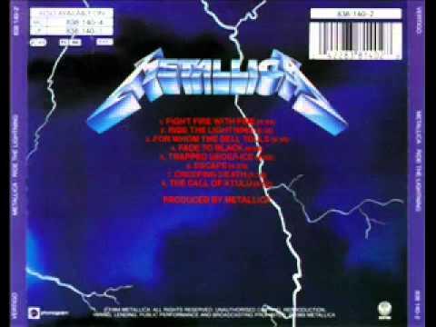 Metallica - Fade To Black - Ride The Lightning - Studio