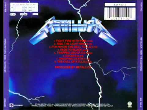Metallica - Fade to Black - Ride The Lightning - Studio