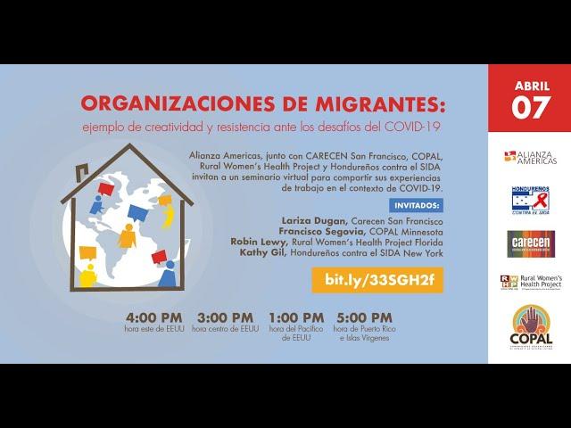 Organizaciones de migrantes: ejemplo de creatividad y resistencia ante los desafíos del COVID-19