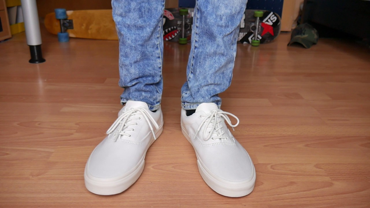 daab4db677 Vans Era 59 WHITE - On Feet - YouTube