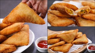 CRISPY BREAD SAMOSA RECIPE | EASY BREAD PATTIES | POTATO BREAD SAMOSA | EASY SNACKS RECIPE | N'Oven