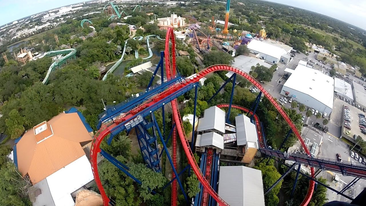 Sheikra Roller Coaster Busch Gardens Tampa Florida Front Seat Hd Good Looking