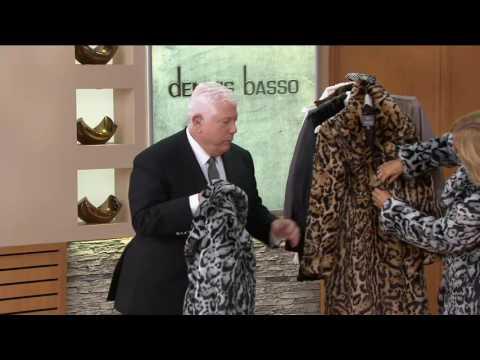 Dennis Basso Platinum Collection Faux Fur Knee Length Coat on QVC 0eb60f7812793