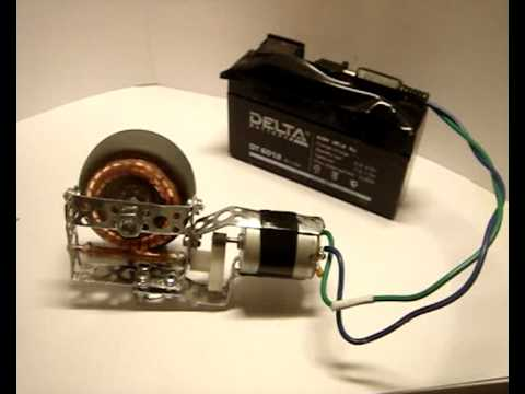 Motor Gear Made From An Electric Lock Actuator For Car
