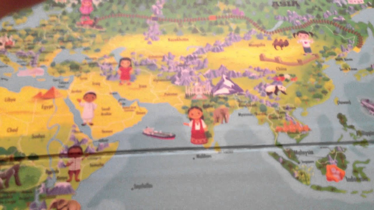 Leap Frog Tag Reading System Interactive World Map - YouTube