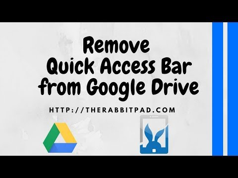 Get Rid of Quick Access on Google Drive