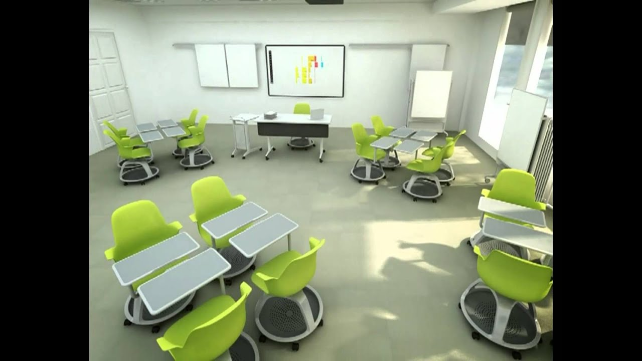 Modern Classroom Furniture Nz ~ Node classroom animation from steelcase youtube